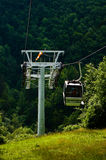 The cable car in the Moravian Karst. Stock Photo