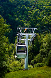 The cable car in the Moravian Karst. Stock Photography