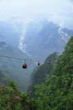 Cable car in Mount Tianmen (Tianmen Shan), China. Cable cars in Mount Tianmen taken in China Royalty Free Stock Image