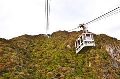 Cable car on the mountain Royalty Free Stock Photography