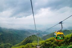 Cable car on the mountain Stock Image
