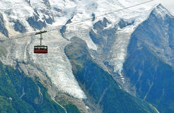 Cable car in mountains Royalty Free Stock Images