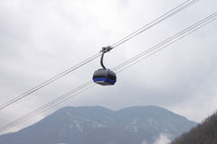 Cable car in mountains Royalty Free Stock Photo