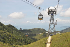 Cable Car Mountisn Structure Way Royalty Free Stock Photo