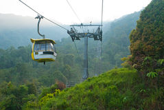 Cable car on moutain Stock Image