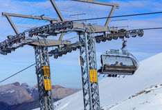 Cable car on Mt. Titlis in Switzerland Stock Image