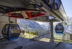Cable car near Kandersteg in Switzerland Stock Image