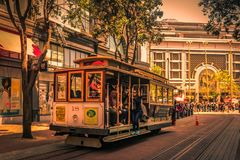 Cable car in San Francisco royalty free stock photography