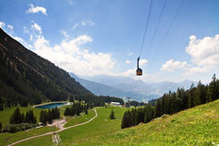 Cable car at Nebelhorn, Germany/Bavaria Royalty Free Stock Photography
