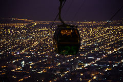 Cable car night view, Overlooking of salta city, argentina Royalty Free Stock Photography