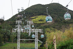 Cable car at Ocean Park Royalty Free Stock Photo