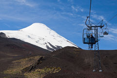 Cable Car in Osorno Volcano Chile Stock Photos