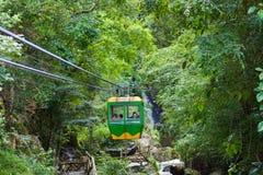 Cable car over Datanla waterfall near Dalat, Vietnam Royalty Free Stock Image