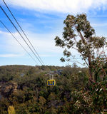Cable-car over forest Royalty Free Stock Image
