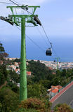 Cable car over Funchal, Madeira Royalty Free Stock Photography