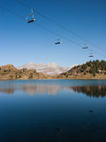 Cable Car over Lake Royalty Free Stock Photography