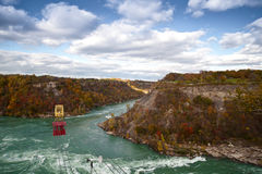 Cable Car Over Niagara River Whirlpool Canada Royalty Free Stock Images
