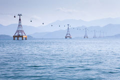 Cable Car over sea Stock Photography