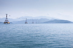 Cable Car over sea Stock Image
