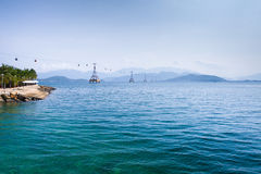 Cable Car over sea Royalty Free Stock Images