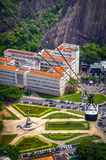 Cable car over Urca Stock Photography