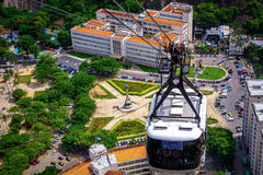 Cable car over Urca Royalty Free Stock Photo
