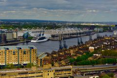 A view of the thames river above royalty free stock images