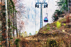 Cable car without passengers Royalty Free Stock Photo