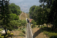 Cable car, Penang Hill, Malaysia Royalty Free Stock Photo