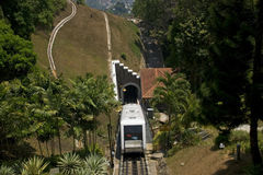 Cable car, Penang Hill, Malaysia Royalty Free Stock Images
