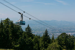 Cable Car at the Pfänder, Austria Stock Images