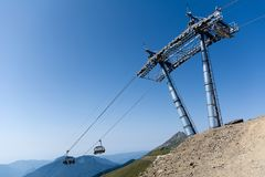 Cable car. Photo of a cable car in the mountains Royalty Free Stock Image