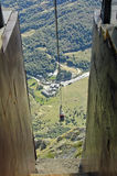 Cable car in the Picos Mountains Stock Photography