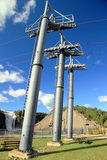 Cable Car Pillars Royalty Free Stock Photography