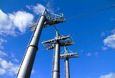 Cable Car Pillars Royalty Free Stock Photos