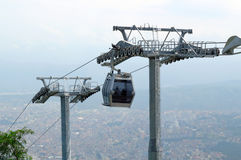 Cable car and pole in the city of Ordu. In Black Sea Region in Turkey Stock Photos