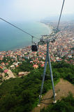 Cable car and pole in the city of Ordu Stock Photos