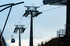 Cable car poles Royalty Free Stock Photos