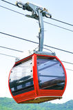 Cable car. Red cable car on the mountain royalty free stock photo
