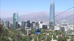 Cable car ride in Santiago, Chile