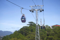 A cable car ride to Cap Treo Da Lat. Vietnam Royalty Free Stock Image