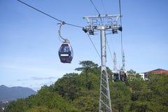 A cable car ride to Cap Treo Da Lat. Vietnam. DALAT, VIETNAM - DECEMBER 21, 2015: A cable car ride to Cap Treo Da Lat Royalty Free Stock Image