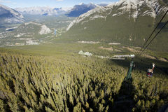Cable car ride to sulphur mountain banff alberta Royalty Free Stock Photos