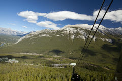 Cable car ride to sulphur mountain banff alberta Stock Photo