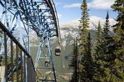Cable car ride to sulphur mountain banff alberta Royalty Free Stock Image