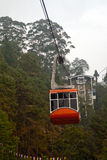 Cable Car. The Rope way ride or Cable car is one of the major tourist attractions of Gangtok city. This is a must see at Gangtok as tourists can have a Royalty Free Stock Photo