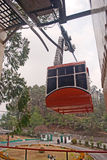 Cable Car. The Rope way ride or Cable car is one of the major tourist attractions of Gangtok city. This is a must see at Gangtok as tourists can have a Stock Photo