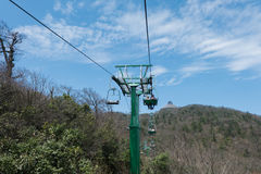 Cable car/ ropeway to tianmen mountain Royalty Free Stock Photo