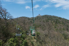Cable car/ ropeway to tianmen mountain Royalty Free Stock Photos