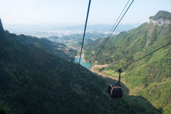 Cable car/ ropeway to tianmen mountain Stock Photo